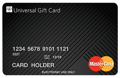 Generic card design. Single load. Mastercard, Visa and Eftpos available
